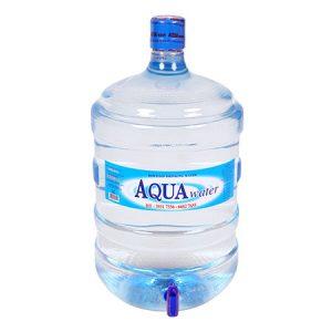 Nước tinh khiết Aquawater (Có vòi và úp máy nóng lạnh)