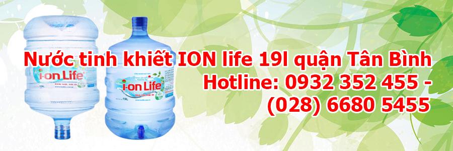 Nước tinh khiết ION life 19l quận Tân Bình