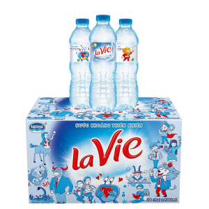 Thùng nước khoáng Lavie 500ml