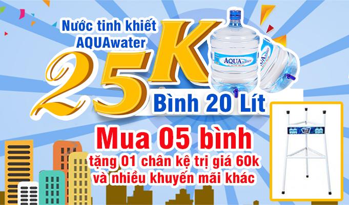 khuyến mãi nước uống đóng bình AQUAwater