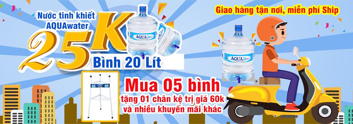 khuyến mãi nước uống Aquawater