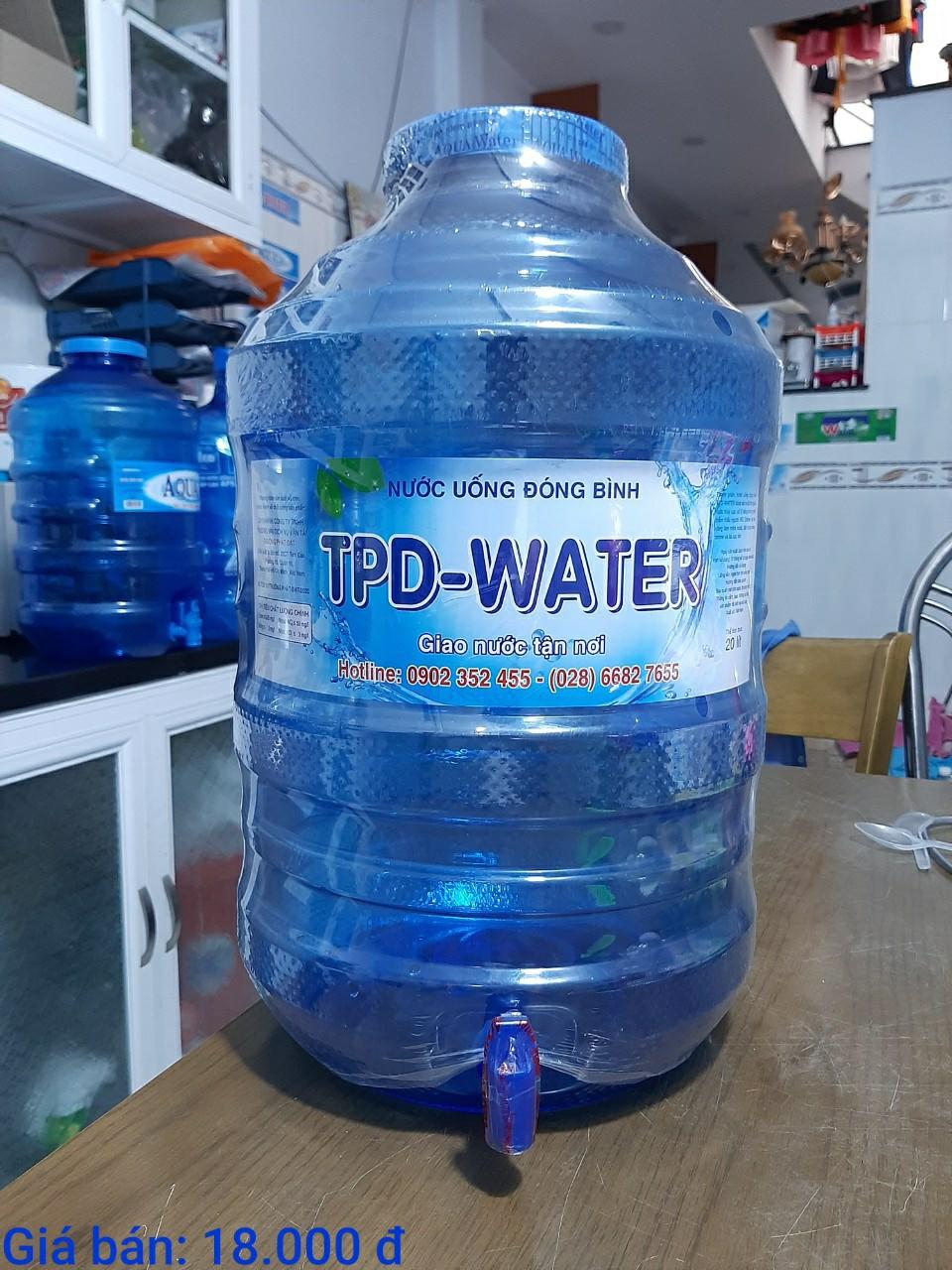 Nước uống TPD-Water bình 20L có vòi